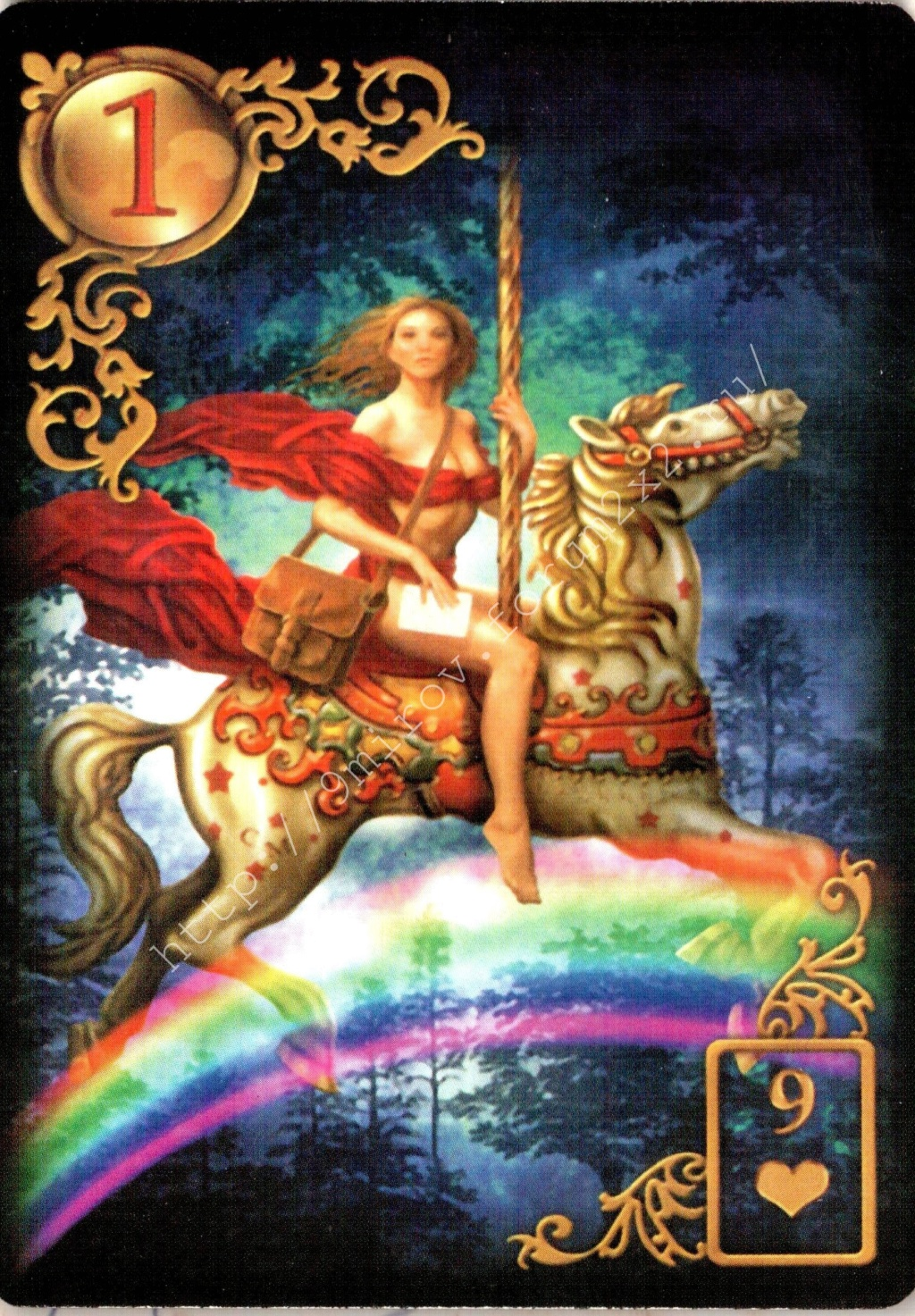 Золотые мечты Ленорман (Расширенное издание) | Gilded Reverie Lenormand. Галерея.  Waterm97