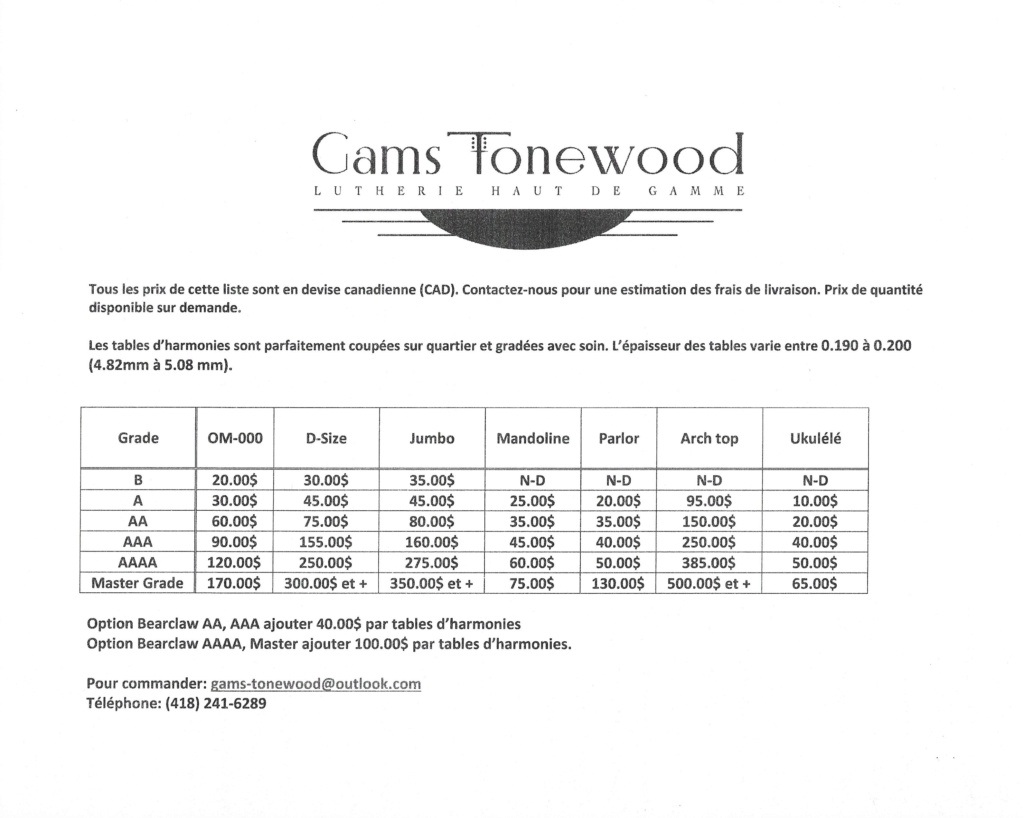 Gams Tonewood: Red Spruce, aka Adirondack Prix_f10