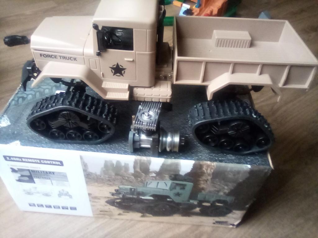 1\16 cox powered rc 4x4 traked truck new vidéo  16093410