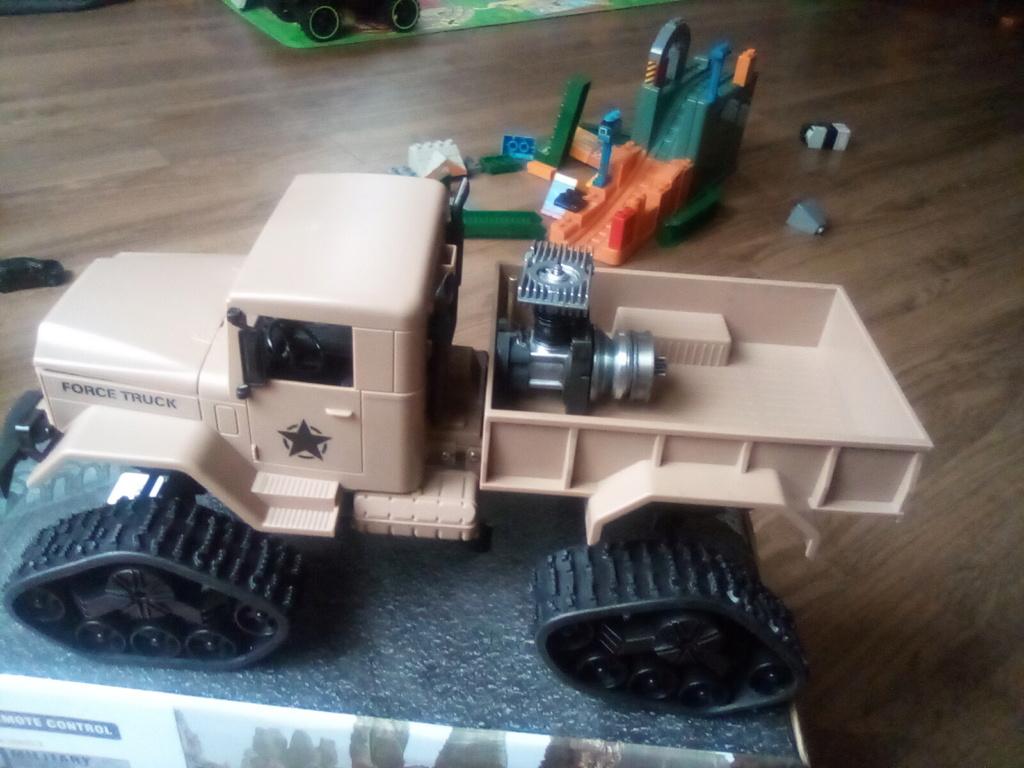 1\16 cox powered rc 4x4 traked truck new vidéo  16093411