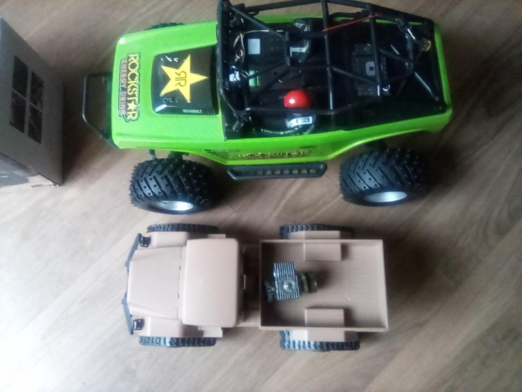 1\16 cox powered rc 4x4 traked truck new vidéo  16093412