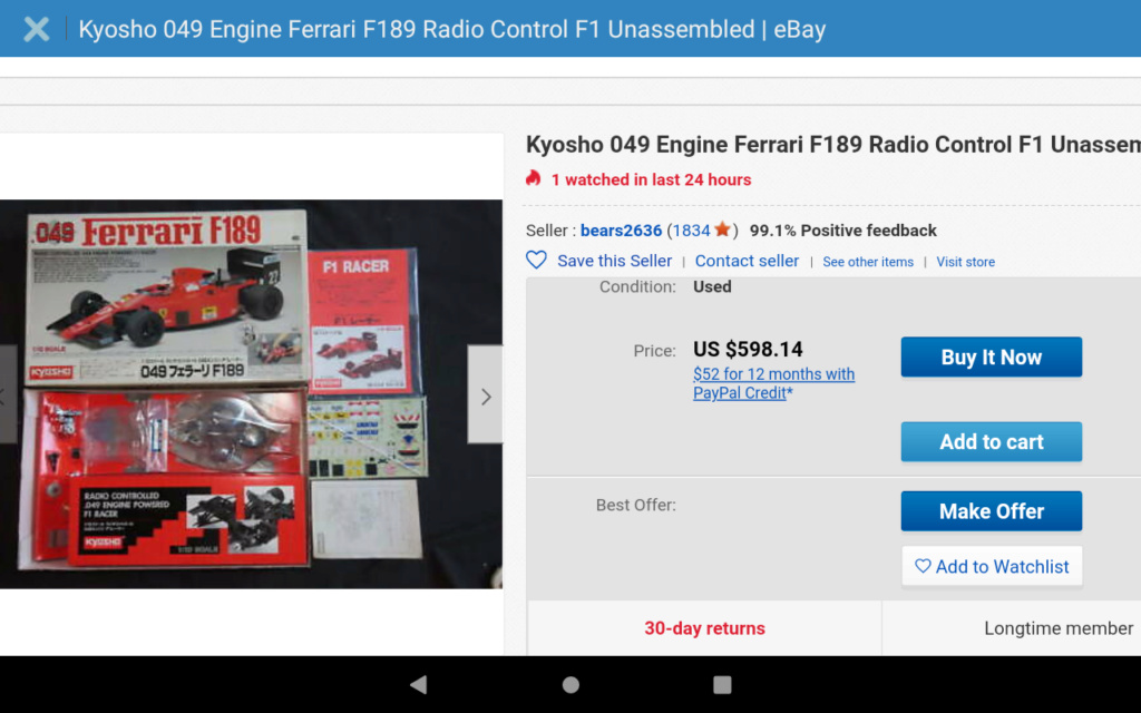 Kyosho ferrari 049 powered new in box on eBay  Screen19