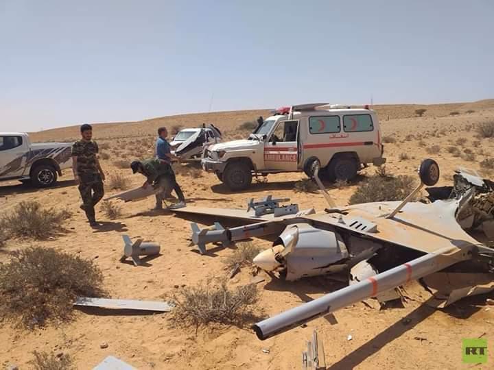 الجيش الليبي يسقط طائرتين تركيتين خلال 12 ساعة 5e99ae10