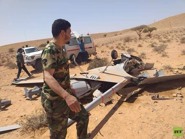الجيش الليبي يسقط طائرتين تركيتين خلال 12 ساعة 5e99ae13