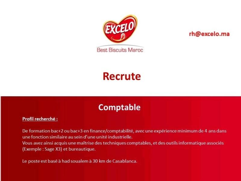Offre d'emploi : Comptable société EXCELO Excelo10