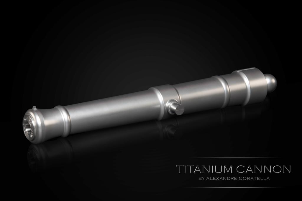 Canon poudre noire en titane Titani11