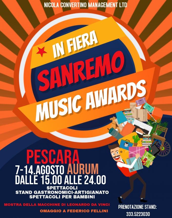 PESCARA: In Fiera Sanremo Music Awards 2020 Locand10