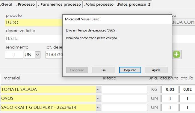 Duplicar registro - Formulário e subformulário Screen12