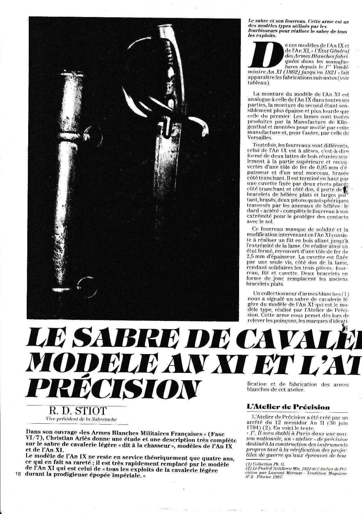 Sabre briquet des Ateliers de Paris Atelie10