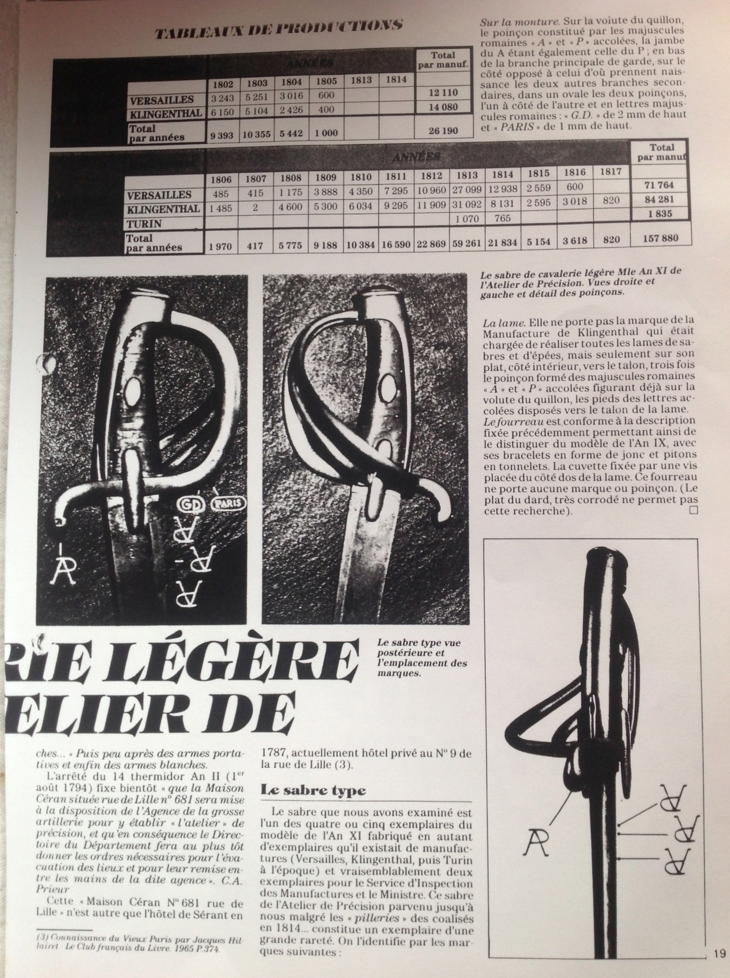 Sabre briquet des Ateliers de Paris Page210