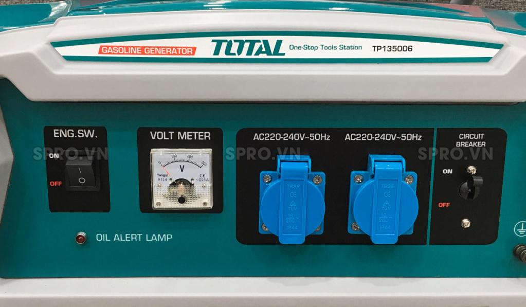 Toàn quốc - 0965 570 643 - Máy phát điện chạy xăng Total 3.5kw TP135006 - SPRO.VN H210