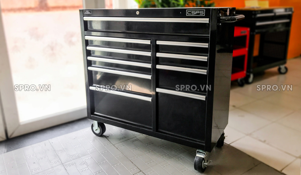 Toàn quốc - 0965570643 - Tủ dụng cụ CSPS 104cm - 10 hộc kéo - Cung cấp thiết bị garage spro.vn S113