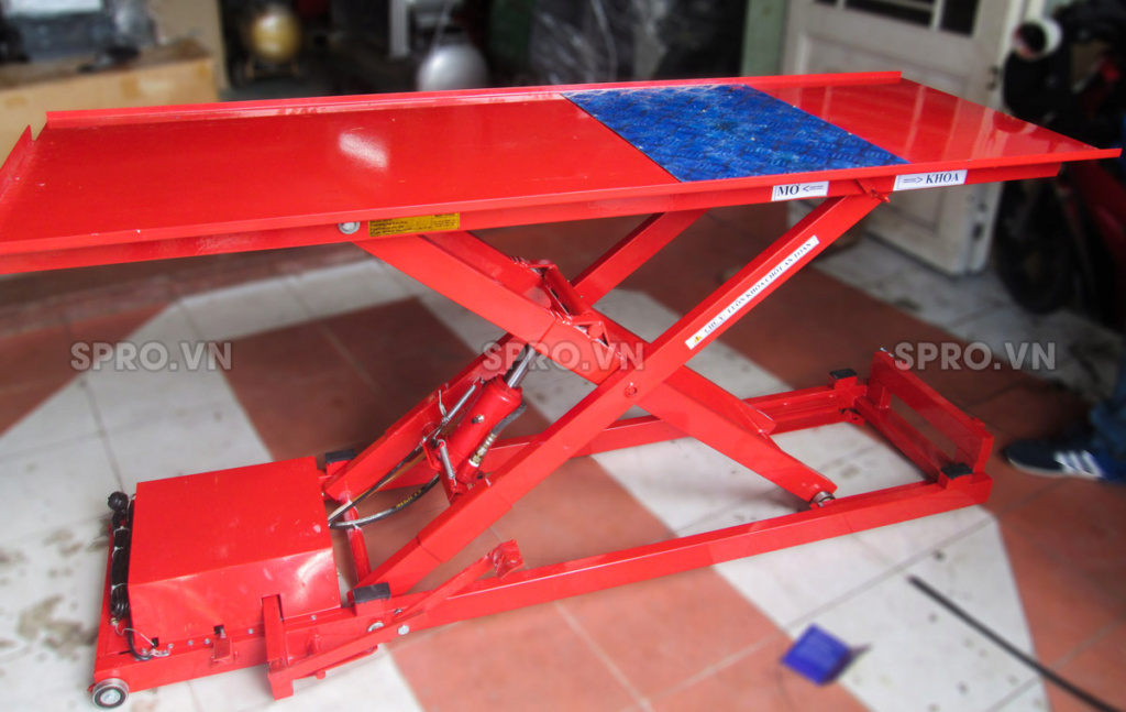 Toàn quốc - 0965 570 643  - Bàn nâng điện và đạp chân BNXMD, sức nâng 170 kg-Thiết bị garage sprovn W2010