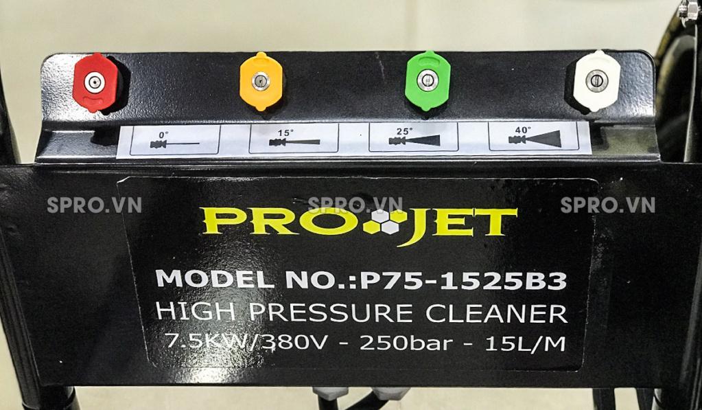 Toàn quốc - 0965 570 643 - Máy xịt rửa áp lực cao Projet P75-1525B3 - Công suất 7.5kw - spro.vn W3211