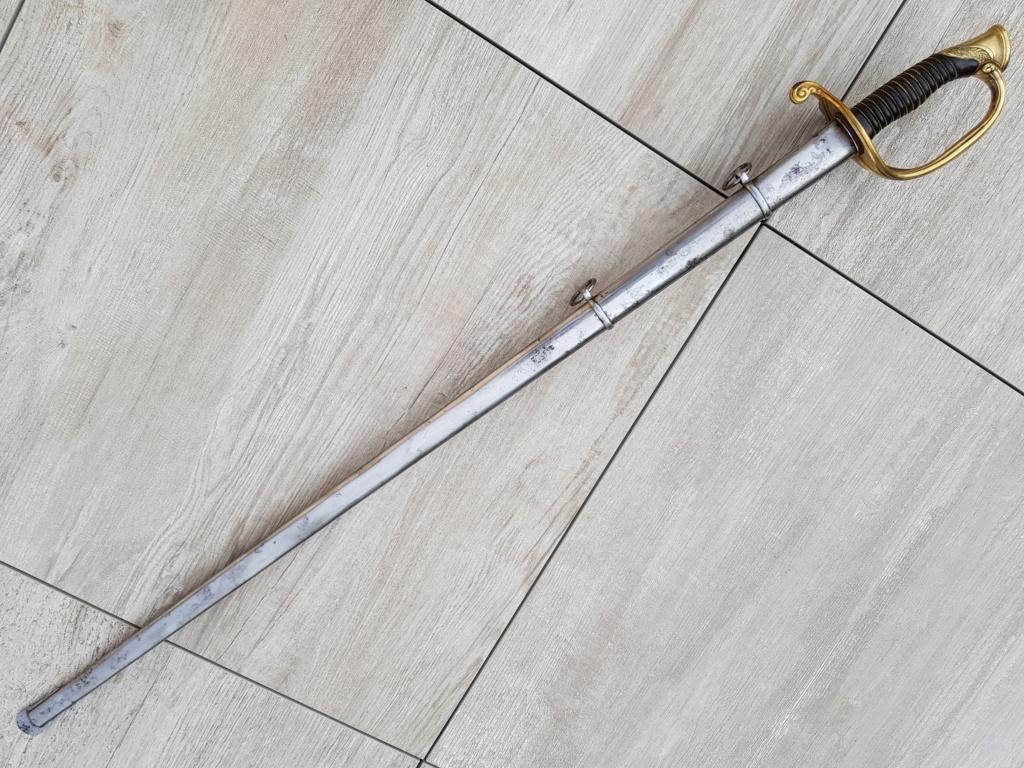 Présentation d'un sabre d'officier supérieur 1855 20210660
