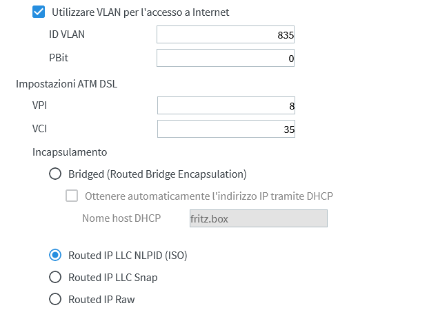 Aiuto Configurazione Fibra Professional su Fritzbox 7590 Screen10