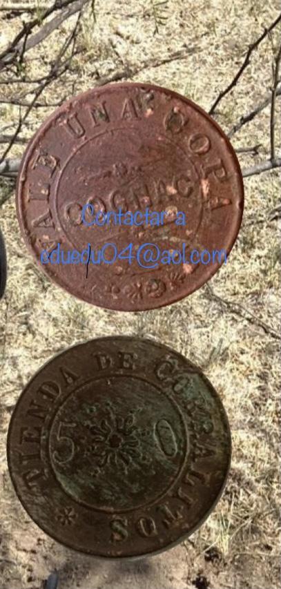 MONEDA que dice VALE POR COPA de COGNAC  7c370310