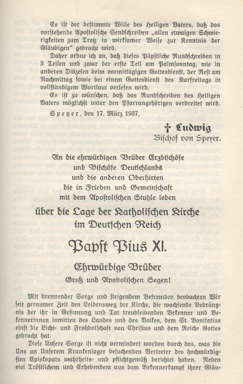 Mit brennender Sorge, 14 mars 1937 (sujet le national-socialisme) Mit_br10