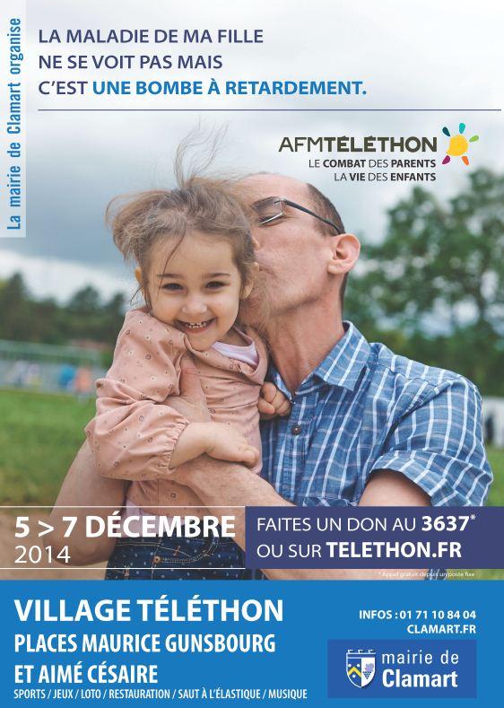 Téléthon Samedi 6 Décembre 2014 à Clamart avec Clamart ! Place de la Mairie Affich11