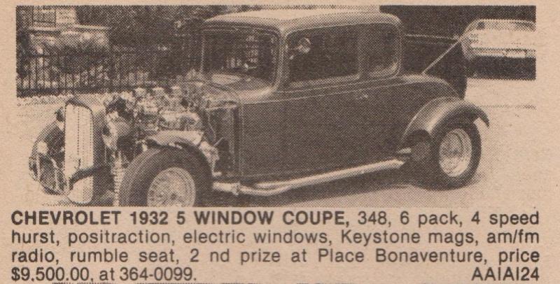 Serie: Des Rod intéressant qui ont déja été vendre ici au Québec 70s 80s Chevy310