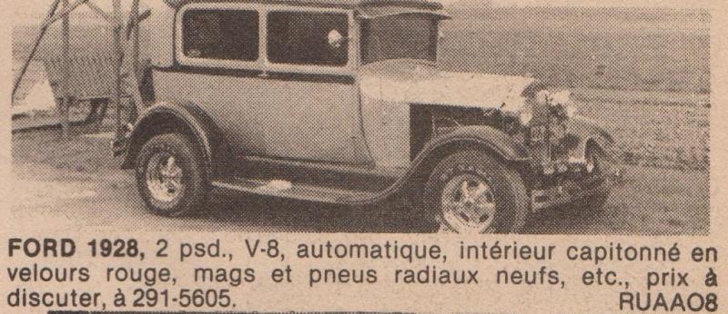 Serie: Des Rod intéressant qui ont déja été vendre ici au Québec 70s 80s Ford2810