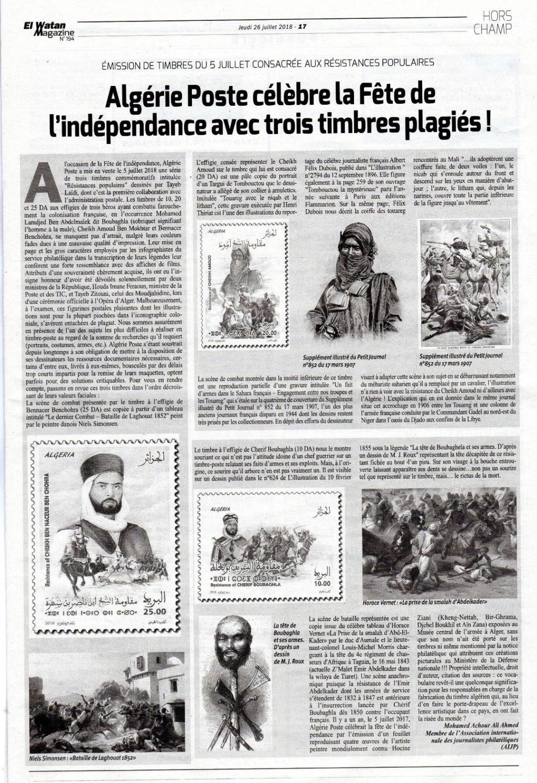 Algérie Poste célèbre la Fête de l'indépendance avec trois timbres plagiés Revolu10