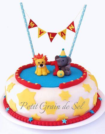 Un gâteau sur le thème du cirque Gateau10