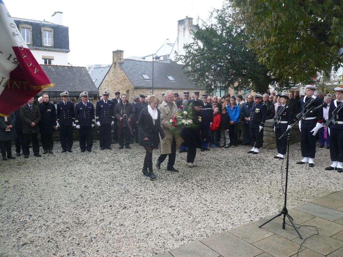 Cérémonie du 11 Novembre 2014 à Fouesnant les Glénan avec la Marine Nationale 1210