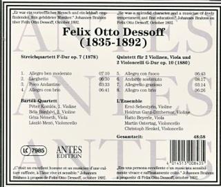Felix Otto DESSOFF (1835-1892) Back10