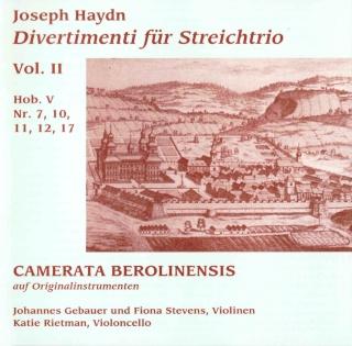 Les trios pour cordes HobV. Camera11