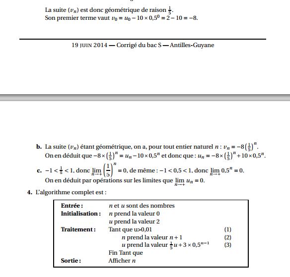 Maths: SUITES pour s'entraîner Antill13