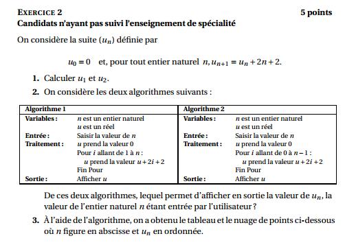 Maths: SUITES pour s'entraîner Polyne10