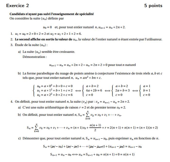 Maths: SUITES pour s'entraîner Polyne12