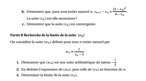 Maths: SUITES pour s'entraîner Suites11