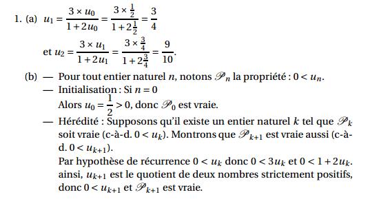 Maths: SUITES pour s'entraîner Suites14