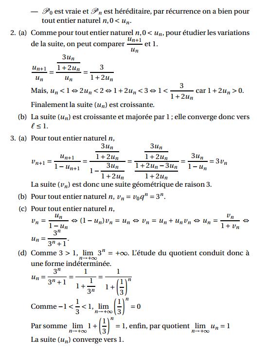 Maths: SUITES pour s'entraîner Suites15