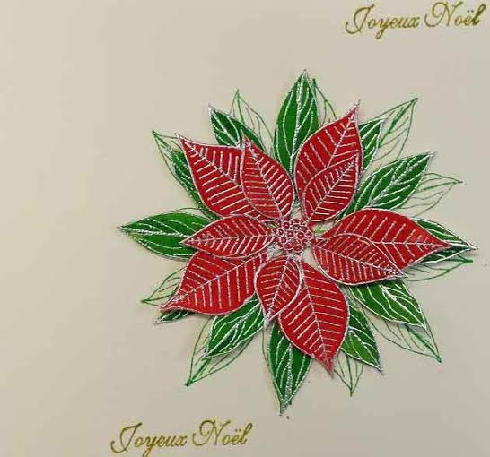 tuto carte Noël - poinsettia Carte-10