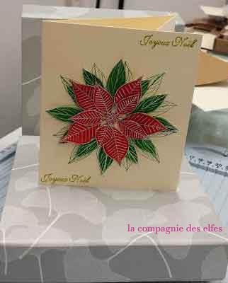 tuto carte Noël - poinsettia Carte-11