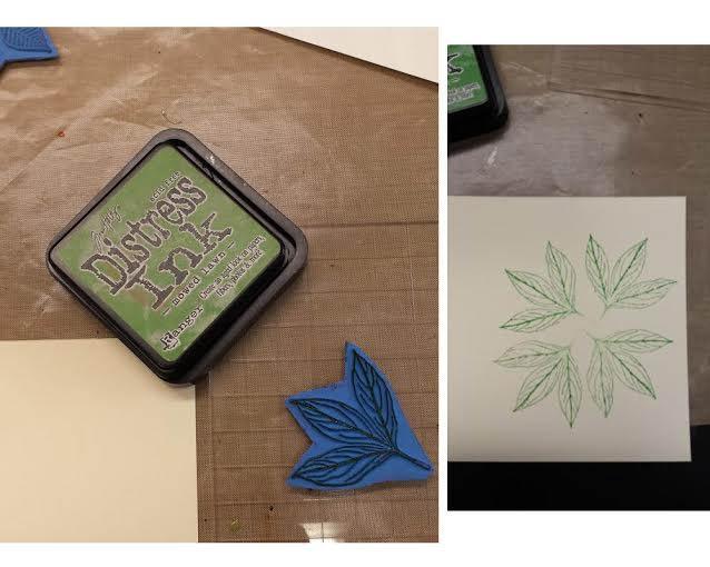 tuto carte Noël - poinsettia Distre10