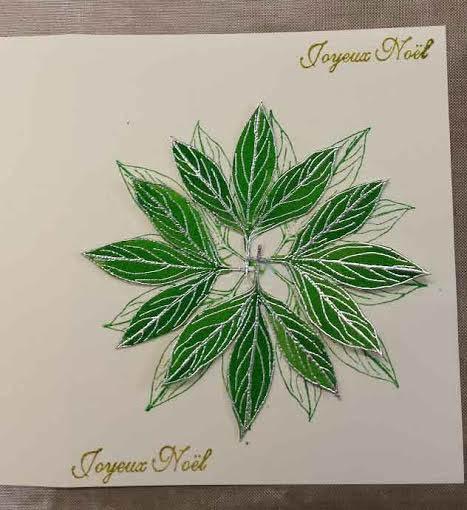 tuto carte Noël - poinsettia Feuill10