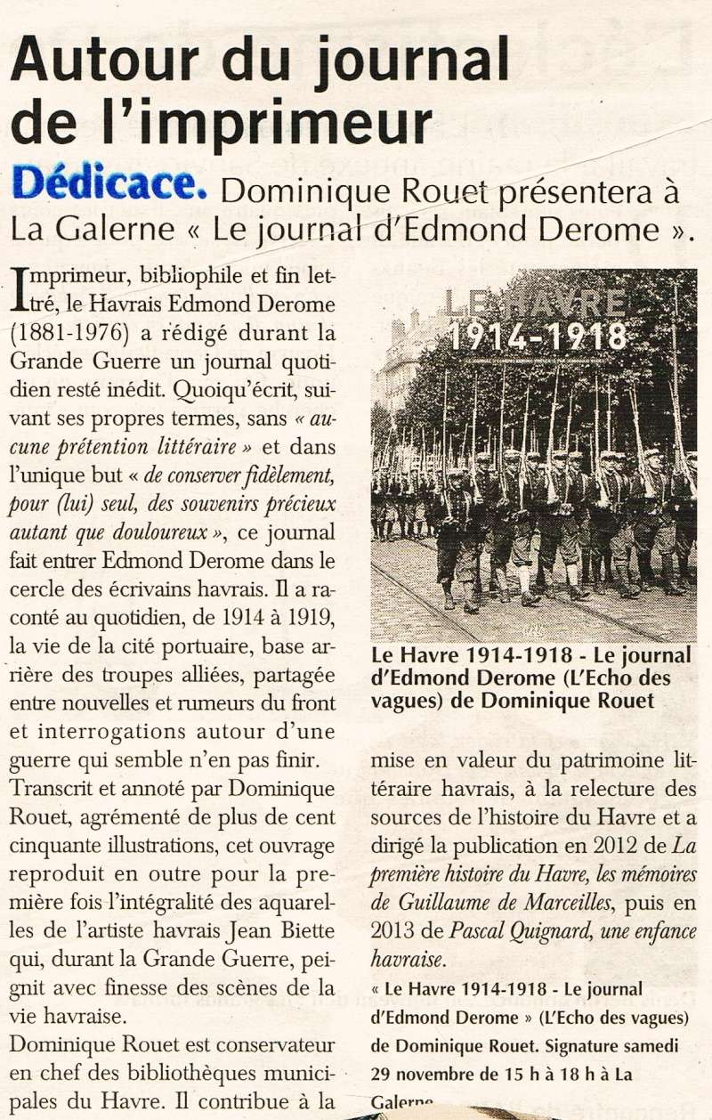 Journal - Le Havre 14-18 - Le journal d'Edmond DEROME 2014-116