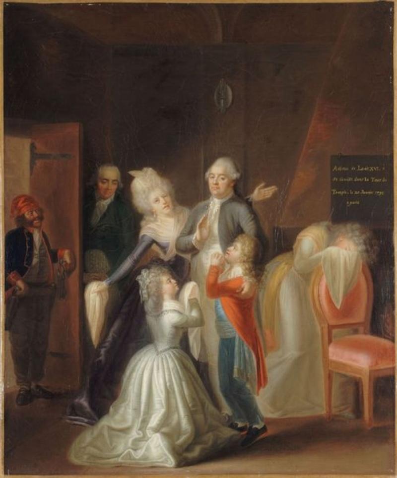 Les portraits de Louis XVII, prisonnier au Temple Adieux10