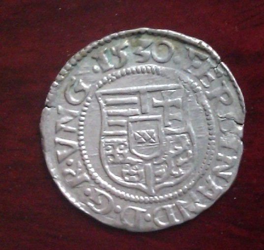 1 Denár. Fernando I de Hungria. 1550. Kremnitz  2prbp810