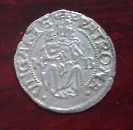1 Denár. Fernando I de Hungria. 1550. Kremnitz  34rupo10