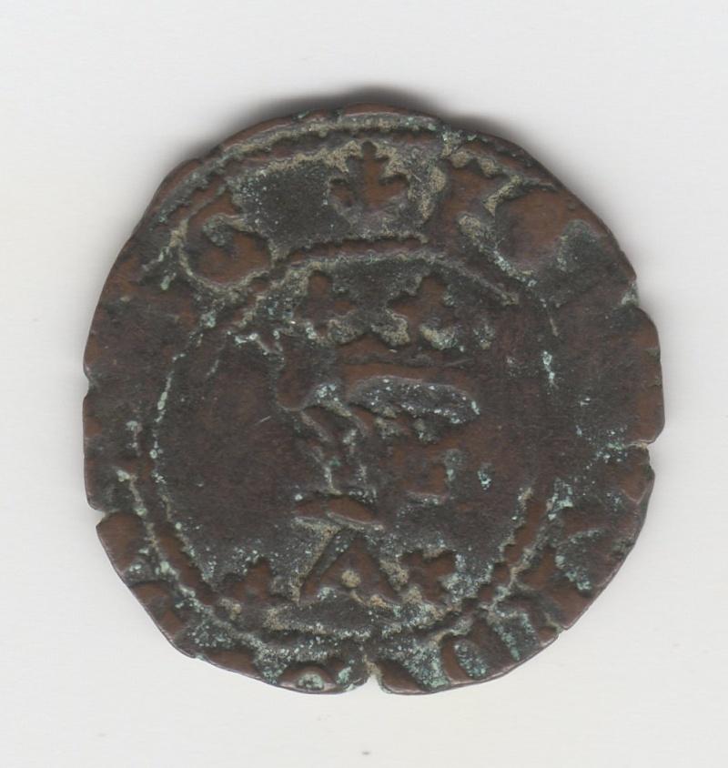 Cornado a nombre de Fernando el Católico acuñado en tiempos de Carlos I (IV de Navarra) Img96310