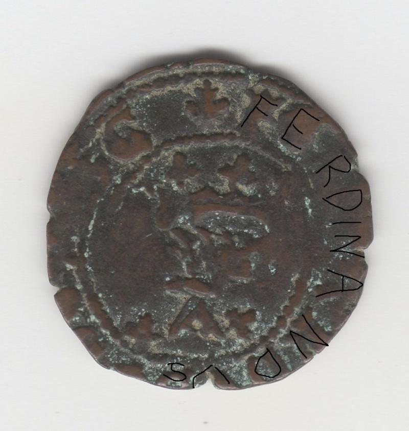 Cornado a nombre de Fernando el Católico acuñado en tiempos de Carlos I (IV de Navarra) Img96311