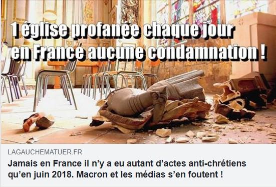 profanation d'église : Macron et les médias s'en foutent ! Profan10