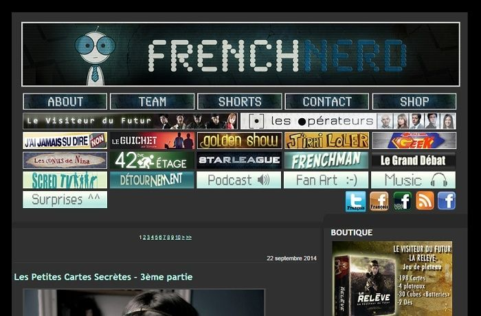 Les différentes versions du blog Frenchnerd V3_9m10