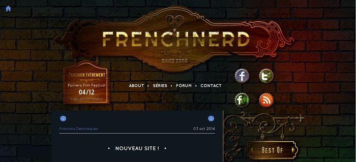 Les différentes versions du blog Frenchnerd V4_0_410