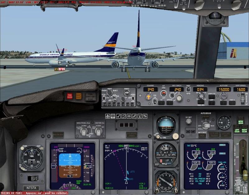 rapport du vol en formation en  737 de LEMD -----LFBG Patrou11